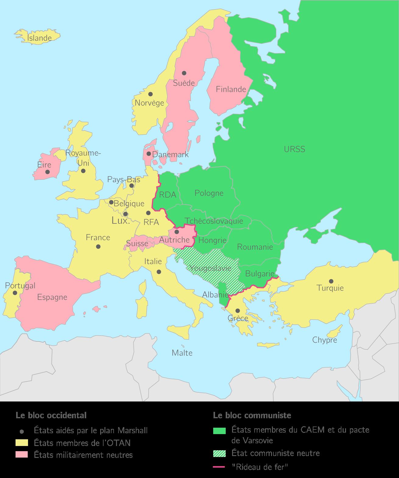 dissertation leurope comme enjeu de la guerre froide Fer » coupe l'europe en deux : l'allemagne et berlin se retrouvent au cœur du conflit de la guerre froide ainsi, en 1948, pour faire partir les occidentaux de berlin et de ce fait affirmer sa.