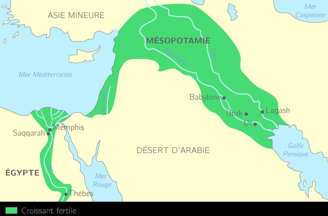 carte de l orient ancien L'Orient ancien au IIIe millénaire avant J. C.   6e   Cours