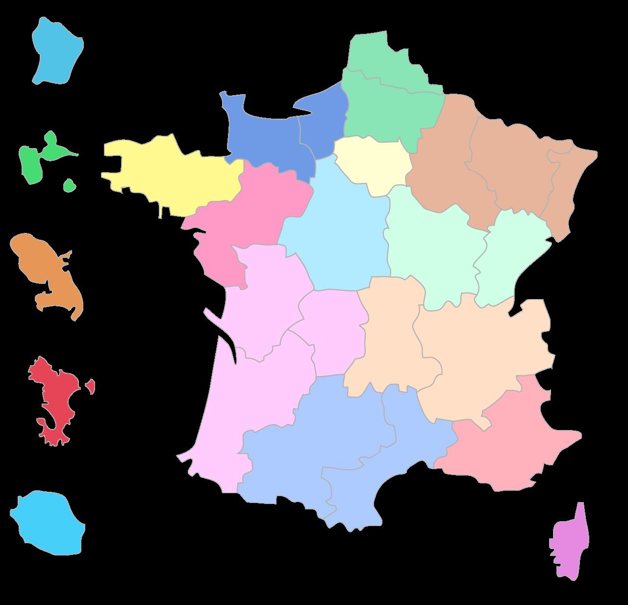 Compléter la carte des régions françaises - 3e - Exercice fondamental Géographie - Kartable