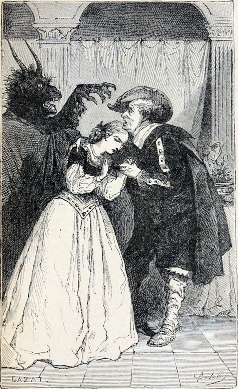 Illustration du conte La Belle et La Bête