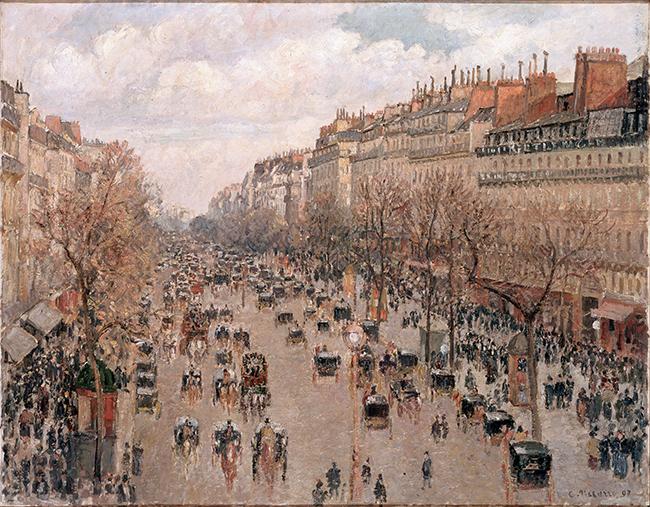 Camille Pissaro,Boulevard Montmartre à Paris, 1897