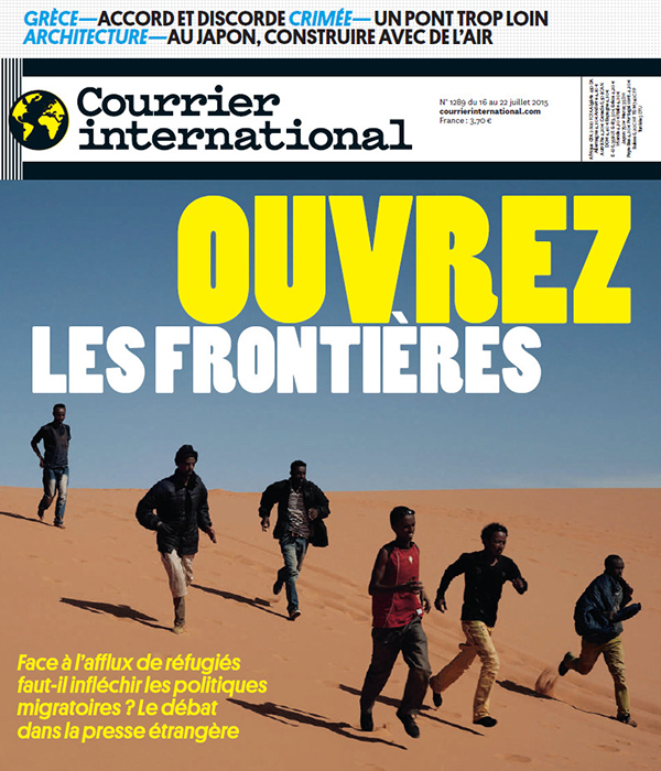 Couverture du Courrier international du 18 au 22 juillet 2015