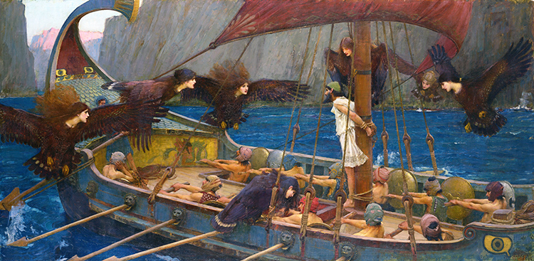 John William Waterhouse, Ulysse et les Sirènes, 1891