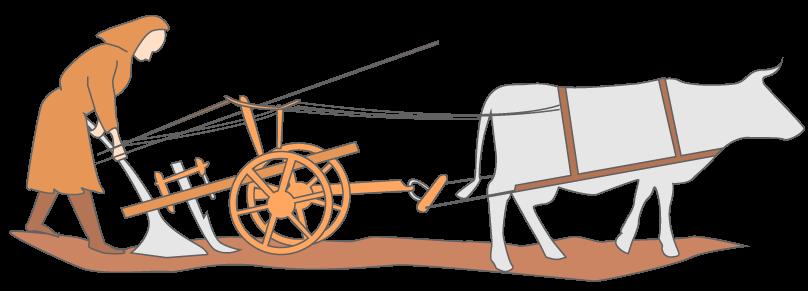 Une charrue à la fin du XIIIe siècle