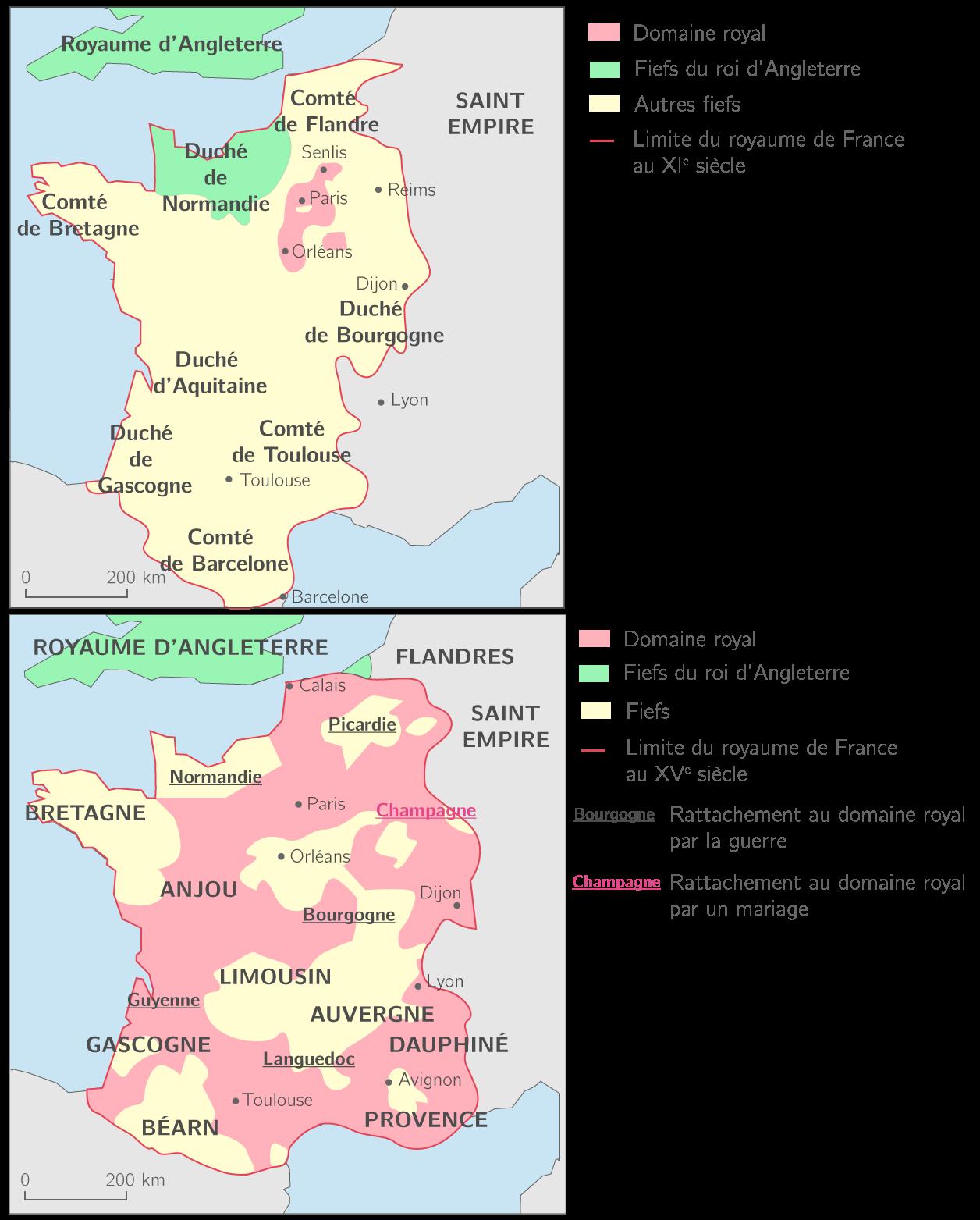 L'agrandissement du domaine royal du XIe au XVe siècle