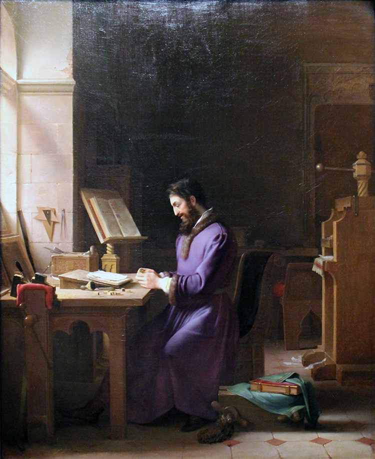 Gutenberg inventant l'imprimerie, Jean-Antoine Laurent (peint en 1831)