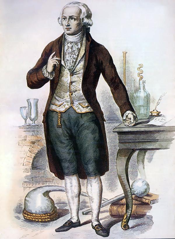 Antoine Lavoisier, entouré de ses instruments de recherche
