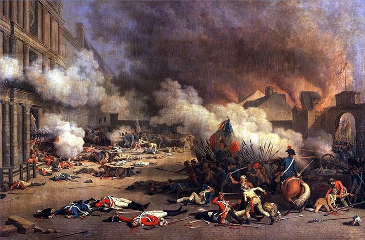 Jean Duplessis-Bertaux, La Prise des Tuileries le 10 août 1792, 1793.