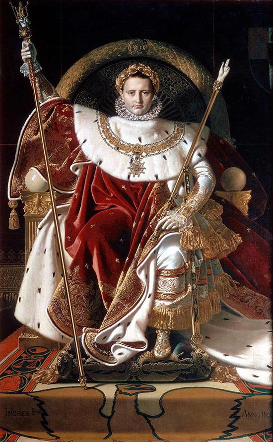 Jean-Auguste-Dominique Ingres, Napoléon sur son trône impérial, 1806.