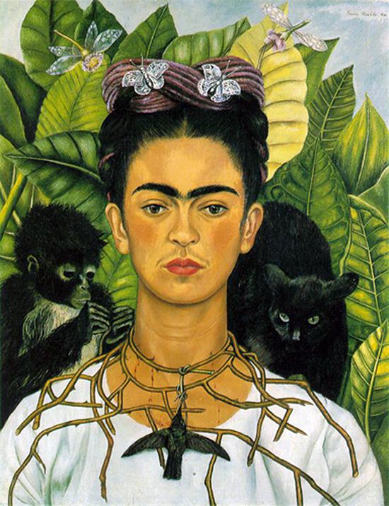 Frida Kahlo, Autoportrait avec collier d'épines et colibri, 1940