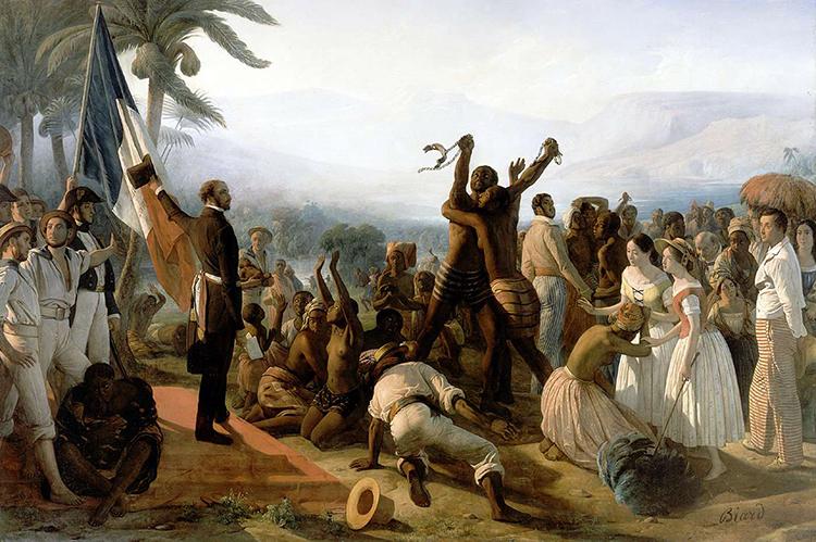 François-Auguste Biard, L'Abolition de l'esclavage dans les colonies françaises, 1848, © Botaurus via Wikimedia Commons