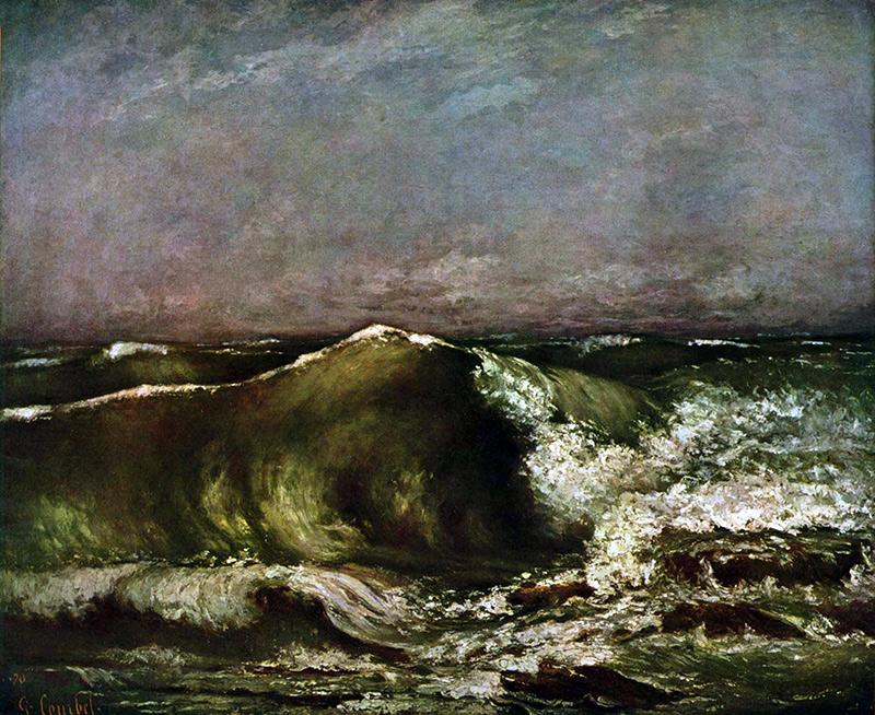 Gustave Courbet, La Vague, 1870