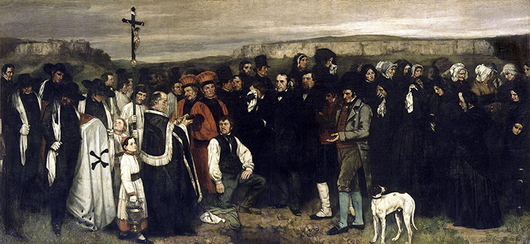 Gustave Courbet, Un enterrement à Omans, 1849 − 1850