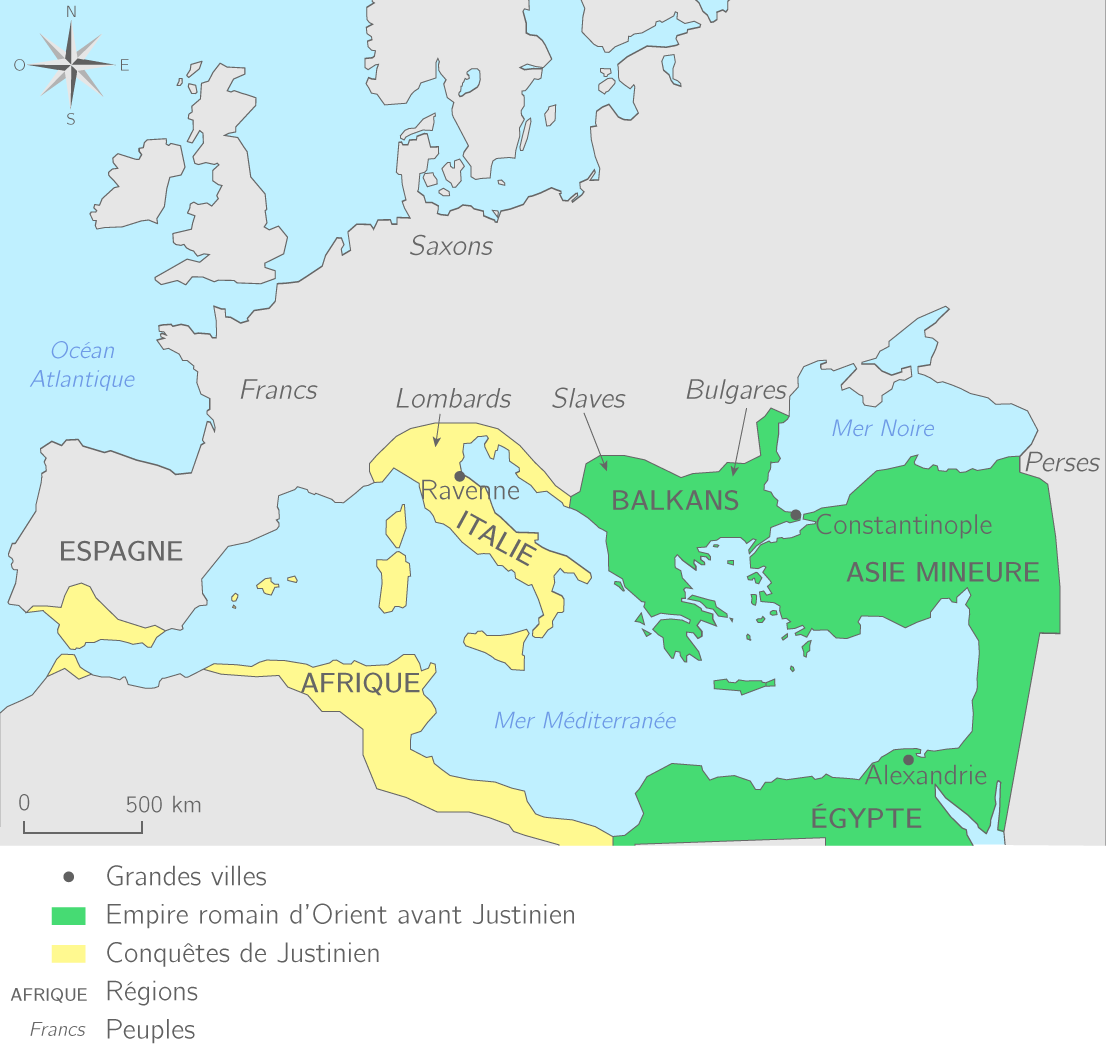 Les conquêtes de Justinien