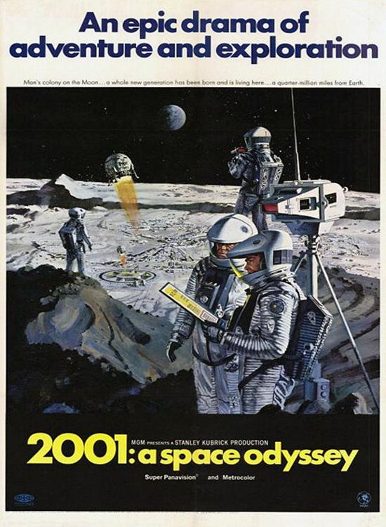 Affiche de 2001, l'odyssée de l'espace, film de Stanley Kubrick sorti en 1968