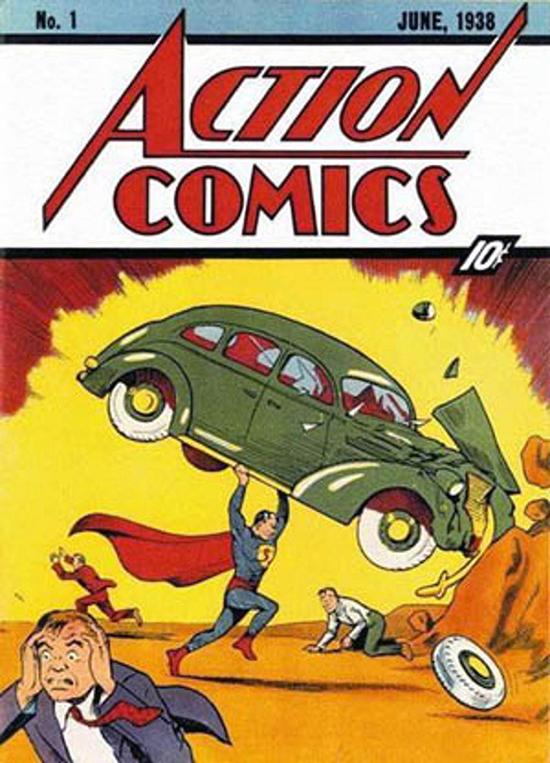 Couverture du magazine Action Comics de juin 1938