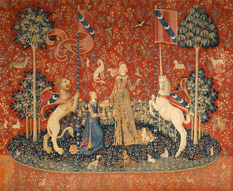 """""""La Dame à la licorne : Le Goût"""", tapisserie, 1484 − 1538"""