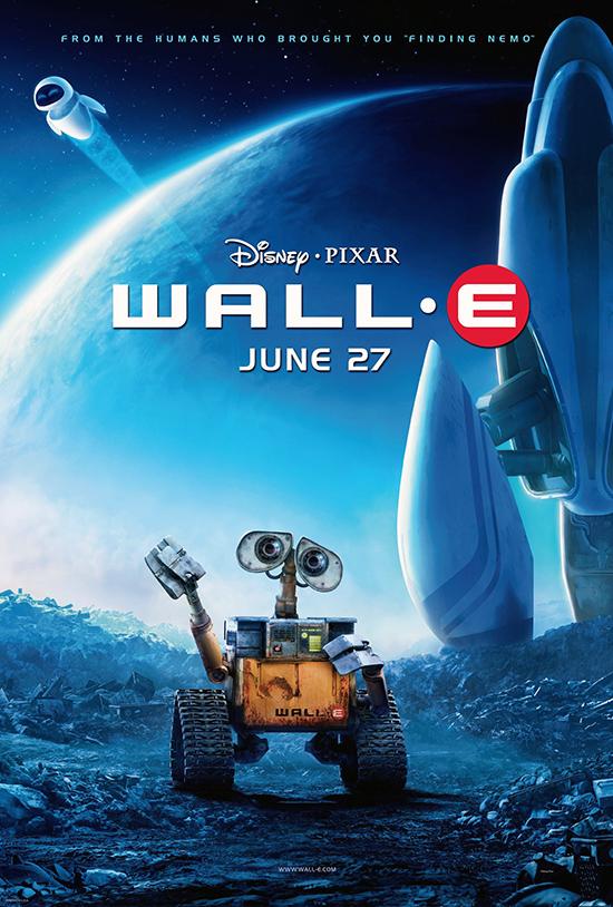 Affiche du dessin animé Wall-E, 2008
