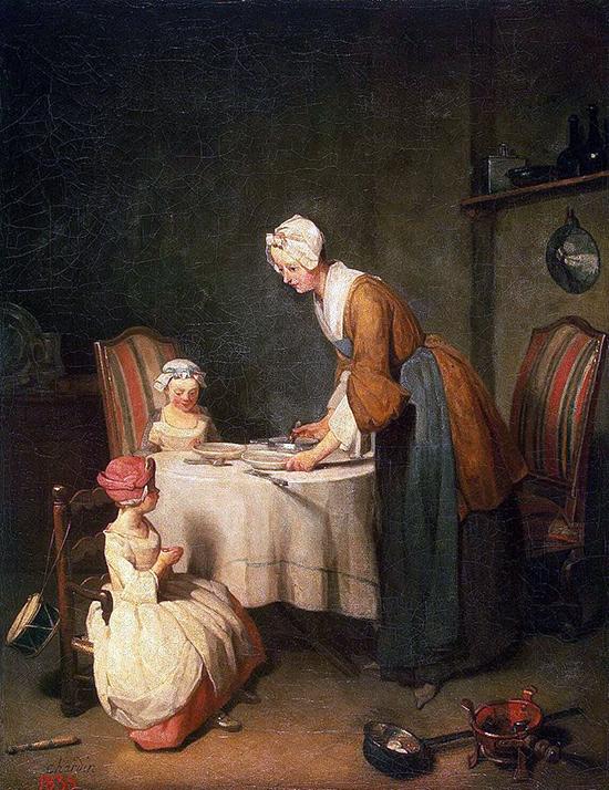 """Jean Siméon Chardin, """"Le Bénédicité"""", 1744"""