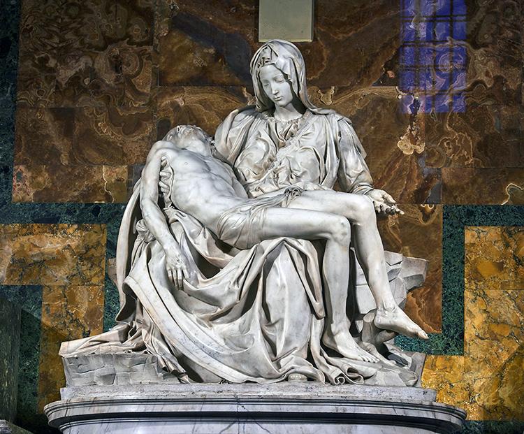 "Michel-Ange, ""La Pieta"", 1498"