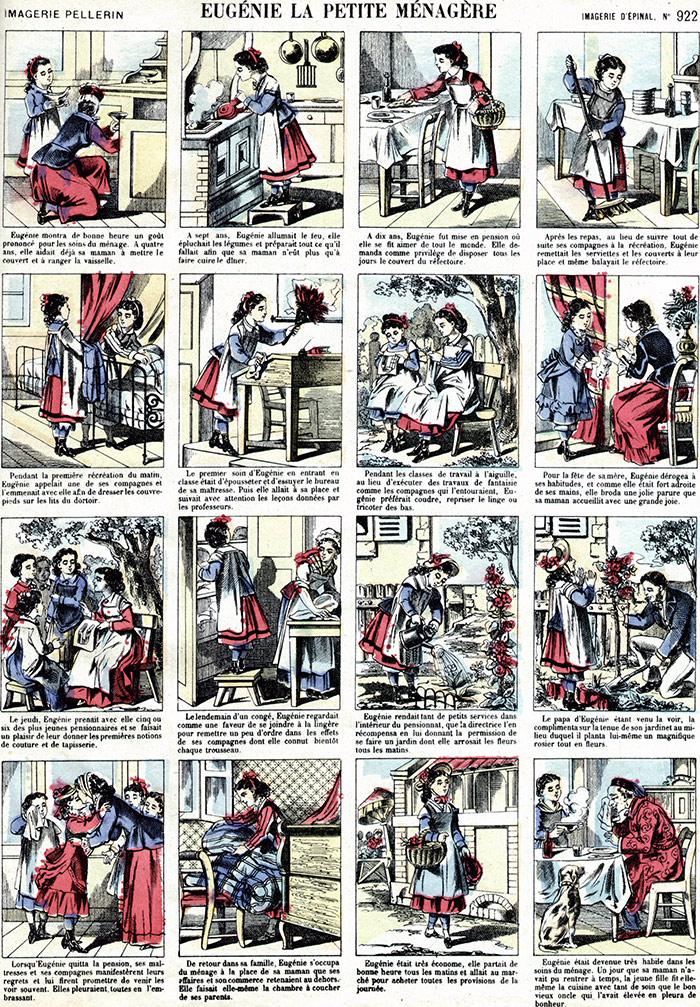 """""""Marthe, la bonne petite ménagère"""", Imagerie d'Épinal Pellerin n°922, XIXe siècle"""
