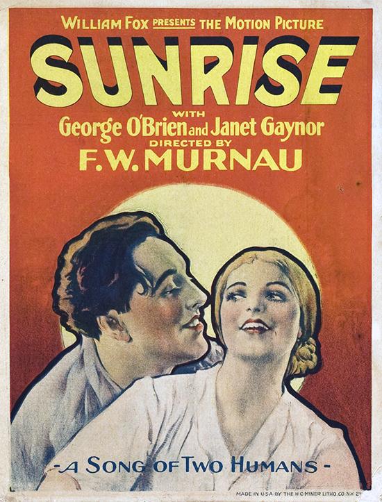 Affiche du film L'Aurore de Murnau soti en 1927