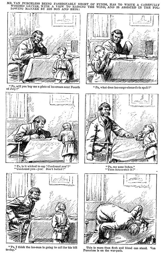 Bande dessinée d'Arthur Burdett Frost parue en 1881