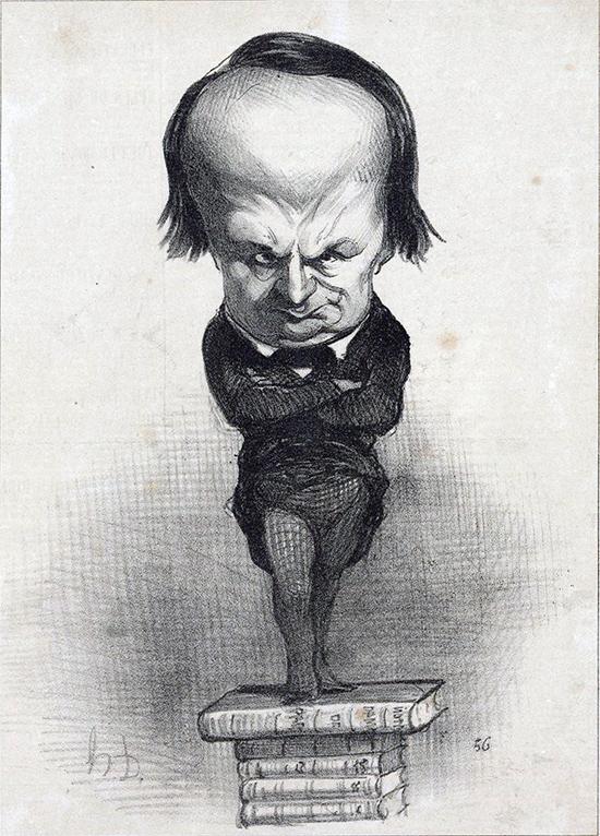 Victor Hugo caricaturé par Honoré Daumier dans le journal Le Charivari du 20 juillet 1849