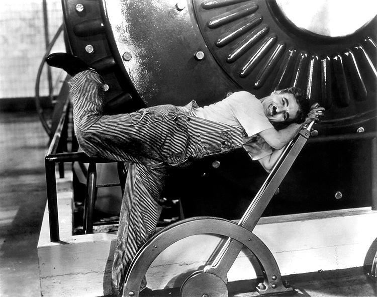 Image du film Les Temps Modernes de Charlie Chaplin sorti en 1936