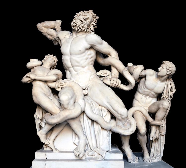 Lacoon et ses fils, sculpture antique