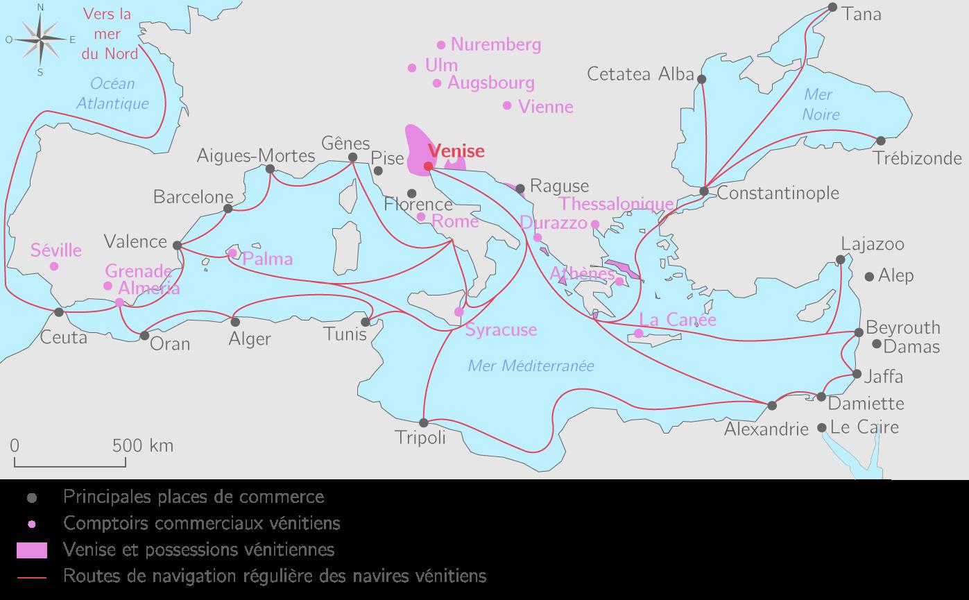 Le commerce médiéval de Venise