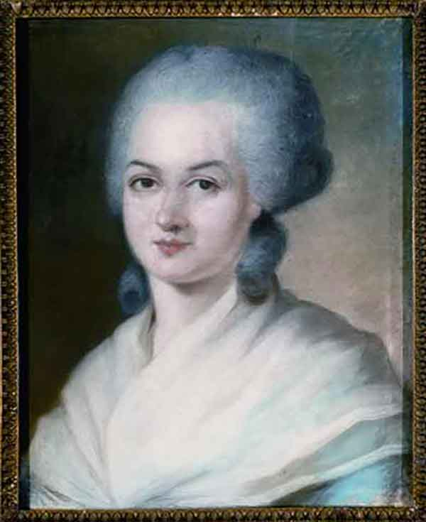 Portrait d'Olympe de Gouges par Alexander Kucharsky, fin du XVIIIe siècle