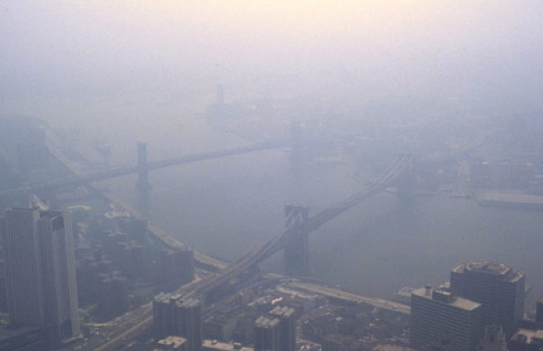 La pollution atmosphérique sur New York