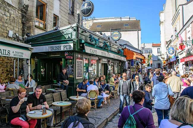 Le quartier de Montmartre à Paris