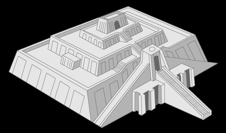 Reconstitution de la ziggourat d'Ur