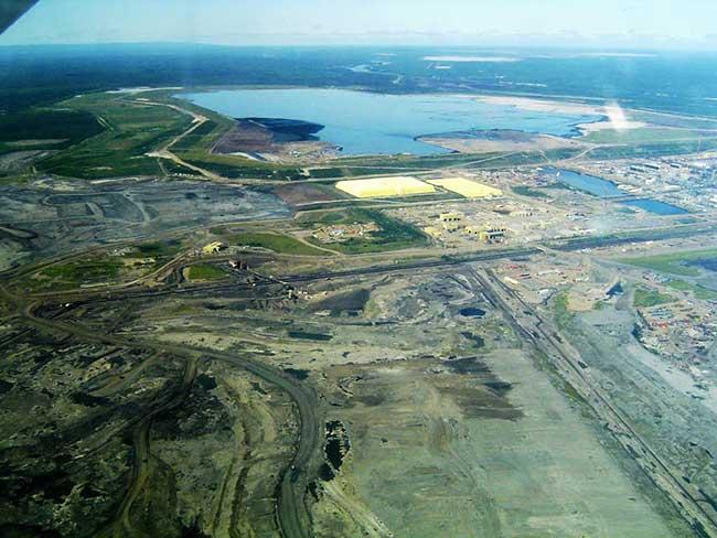 Impact environnemental d'une mine de soufre au Canada