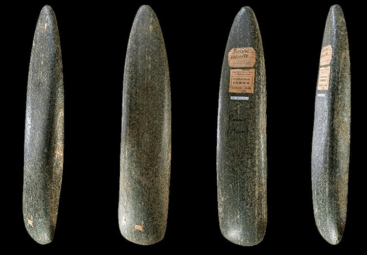 Hache polie du néolithique près de Reims en France