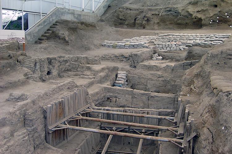 Restes d'habitations du site de Çatal Hüyük