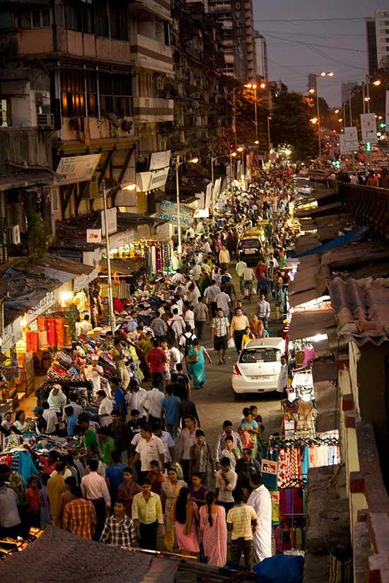 Une rue de Mumbai