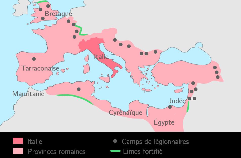 L'Empire romain à la mort d'Hadrien