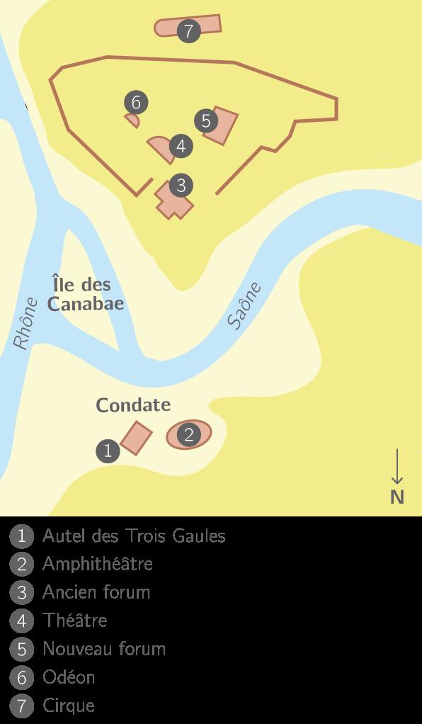 Plan de la ville de Lugdunum