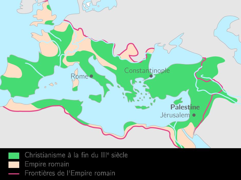 Le christianisme dans l'Empire romain au début du IVe siècle