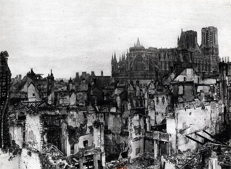 La ville de Reims en 1916