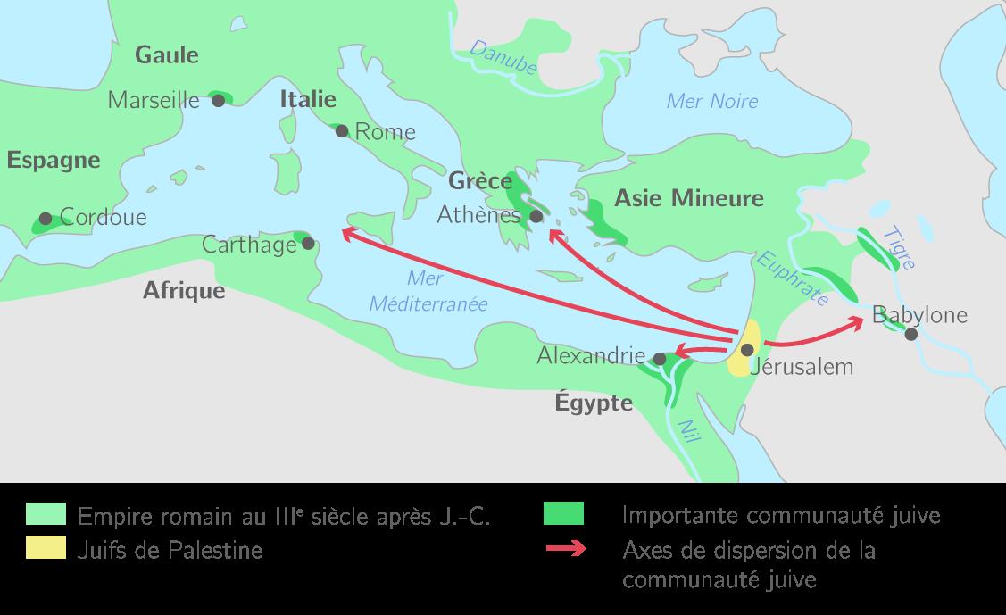 La diaspora juive au IIIe siècle après J.-C.