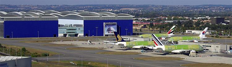 Site d'assemblage final de l'A380 à Toulouse