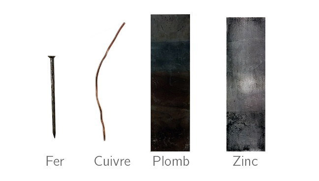Échantillons de métaux divers