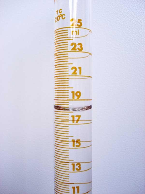 Mesure du volume d'un liquide