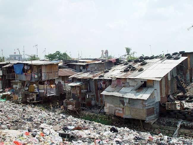 Un habitat précaire à Jakarta