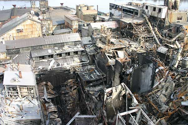 Un site industriel aux États-Unis après une explosion
