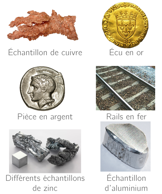 Divers métaux